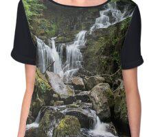 Torque Waterfall Chiffon Top