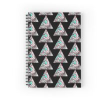 candy triangle Spiral Notebook