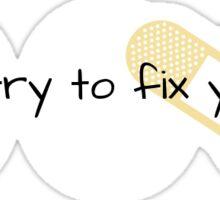 Coldplay Fix You Sticker Sticker