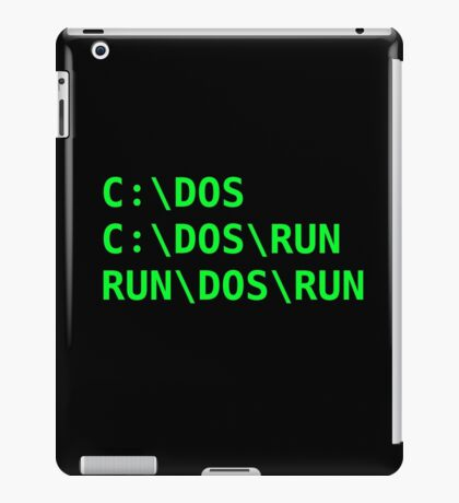 C:\DOS Joke iPad Case/Skin