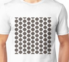 Eames Era Retro 60s Waves Pattern  (Dark Cool Brown) Unisex T-Shirt