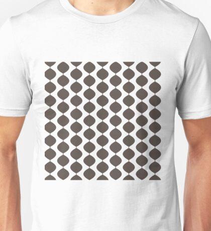 Midcentury Modern Retro 60s Waves Pattern  (Dark Cool Brown) Unisex T-Shirt