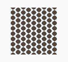 Eames Era Retro 60s Waves Pattern  (Dark Cool Brown) Unisex T-Shirt