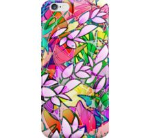 Grunge Art Floral Abstract iPhone Case/Skin