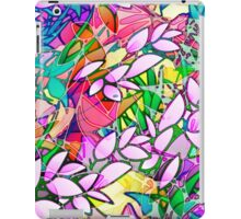 Grunge Art Floral Abstract iPad Case/Skin