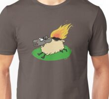 Flaming Sheep (White) Unisex T-Shirt