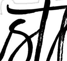Motivational Hustle Typography Quote Sticker