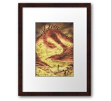 Sleeping Smaug Framed Print