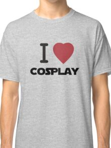 I Heart Cosplay Black Text (Clothing & Stickers) Classic T-Shirt