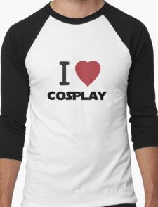 I Heart Cosplay Black Text (Clothing & Stickers) Men's Baseball ¾ T-Shirt
