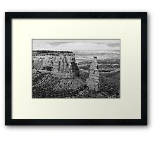 Colorado National Monument 4 BW Framed Print