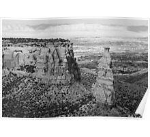 Colorado National Monument 4 BW Poster