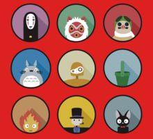 Studio Ghibli icons One Piece - Short Sleeve