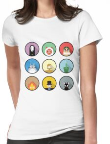 Studio Ghibli icons Womens Fitted T-Shirt