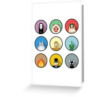 Studio Ghibli icons Greeting Card