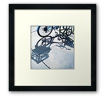 Empty Baskets - bicycle art oil painting Framed Print
