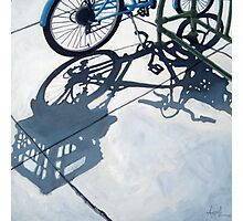 Empty Baskets - bicycle art oil painting Photographic Print