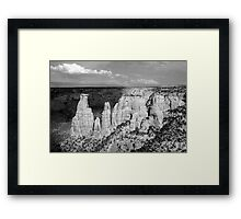 Colorado National Monument 9 BW Framed Print