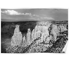 Colorado National Monument 9 BW Poster