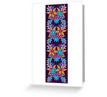 Colorful Romantic Vintage Floral Pattern Greeting Card