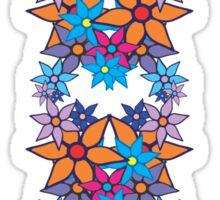 Colorful Romantic Vintage Floral Pattern Sticker