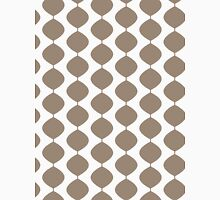 Eames Era Retro 60s Waves Pattern  (Light Cool Brown) Unisex T-Shirt