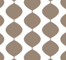 Eames Era Retro 60s Waves Pattern  (Light Cool Brown) Sticker