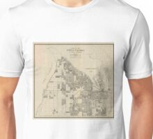 Vintage Map of Tacoma Washington (1907) Unisex T-Shirt