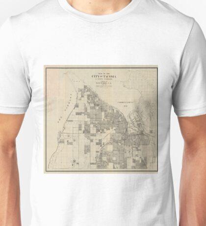 Vintage Map of Tacoma Washington (1907) Unisex T-Shirt