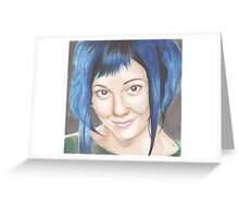 Blue Haired Ramona Greeting Card