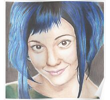 Blue Haired Ramona Poster