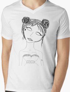 Lil face tat space buns  Mens V-Neck T-Shirt