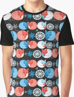 Pattern funny fox Graphic T-Shirt