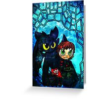 Dragon and Rider Greeting Card