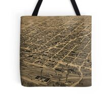 Vintage Pictorial Map of Texarkana (1888) Tote Bag