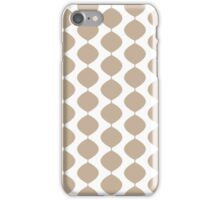 Eames Era Retro 60s Waves Pattern  (Pale Cool Brown) iPhone Case/Skin