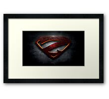 """The Letter Z in the Style of """"Man of Steel"""" Framed Print"""