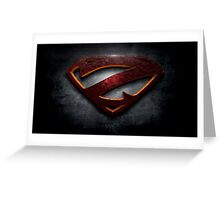 """The Letter Z in the Style of """"Man of Steel"""" Greeting Card"""