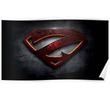 """The Letter Z in the Style of """"Man of Steel"""" Poster"""