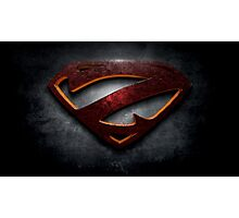 "The Letter Z in the Style of ""Man of Steel"" Photographic Print"
