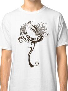 Abstract flower. Black and white colors Classic T-Shirt
