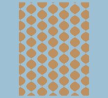 Eames Era Retro 60s Waves Pattern  (Pale Warm Brown) Baby Tee