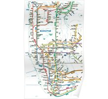 MTA-NYC-Manhattan Subway Line/Map Poster