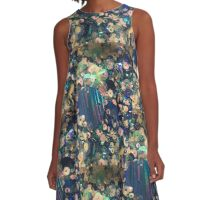 Blue sequins A-Line Dress