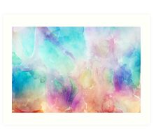 Colorful pastel tones watercolors abstract background Art Print