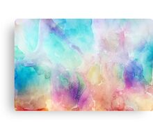 Colorful pastel tones watercolors abstract background Canvas Print