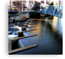 *Riverplace Dam* Canvas Print