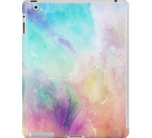 Colorful pastel tones watercolors abstract background iPad Case/Skin