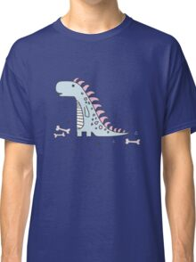 Ornament with dinosaurs, Jurassic Park. Adorable seamless pattern with funny dinosaurs in cartoon Classic T-Shirt
