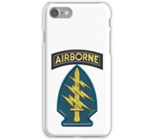 US Army Special Forces Airborne Insignia iPhone Case/Skin